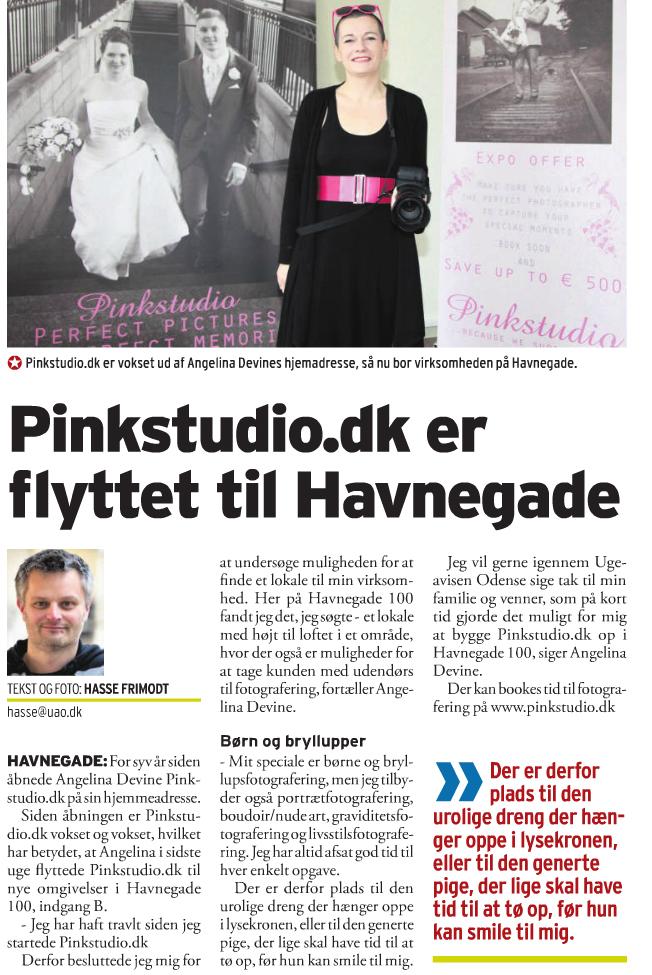 Pinkstudio by Angelina Devine ugeavisem De urolige drenge... Nyheder