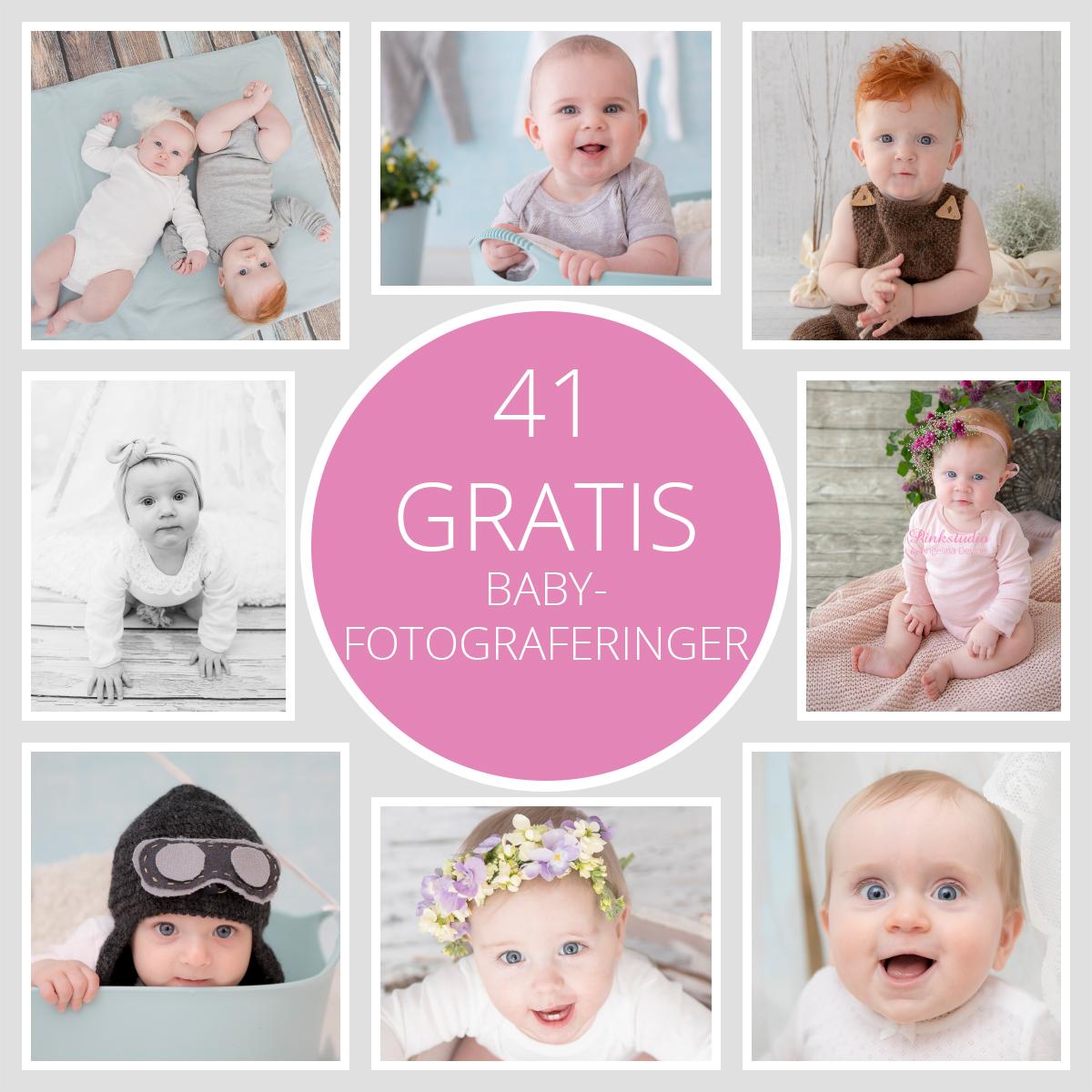 Pinkstudio by Angelina Devine GRATIS-maj Fødselsdagstilbud: GRATIS babyfotografering Nyheder Portræt Tilbud