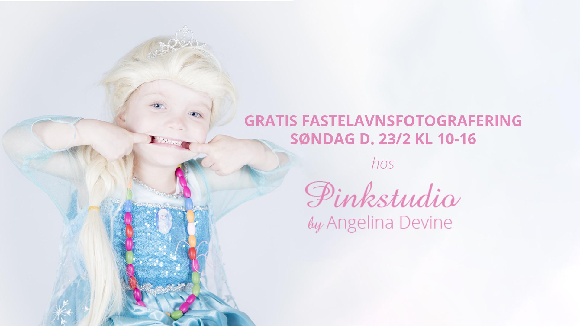 Pinkstudio by Angelina Devine cover GRATIS fastelavn fotografering Børn Nyheder Tilbud
