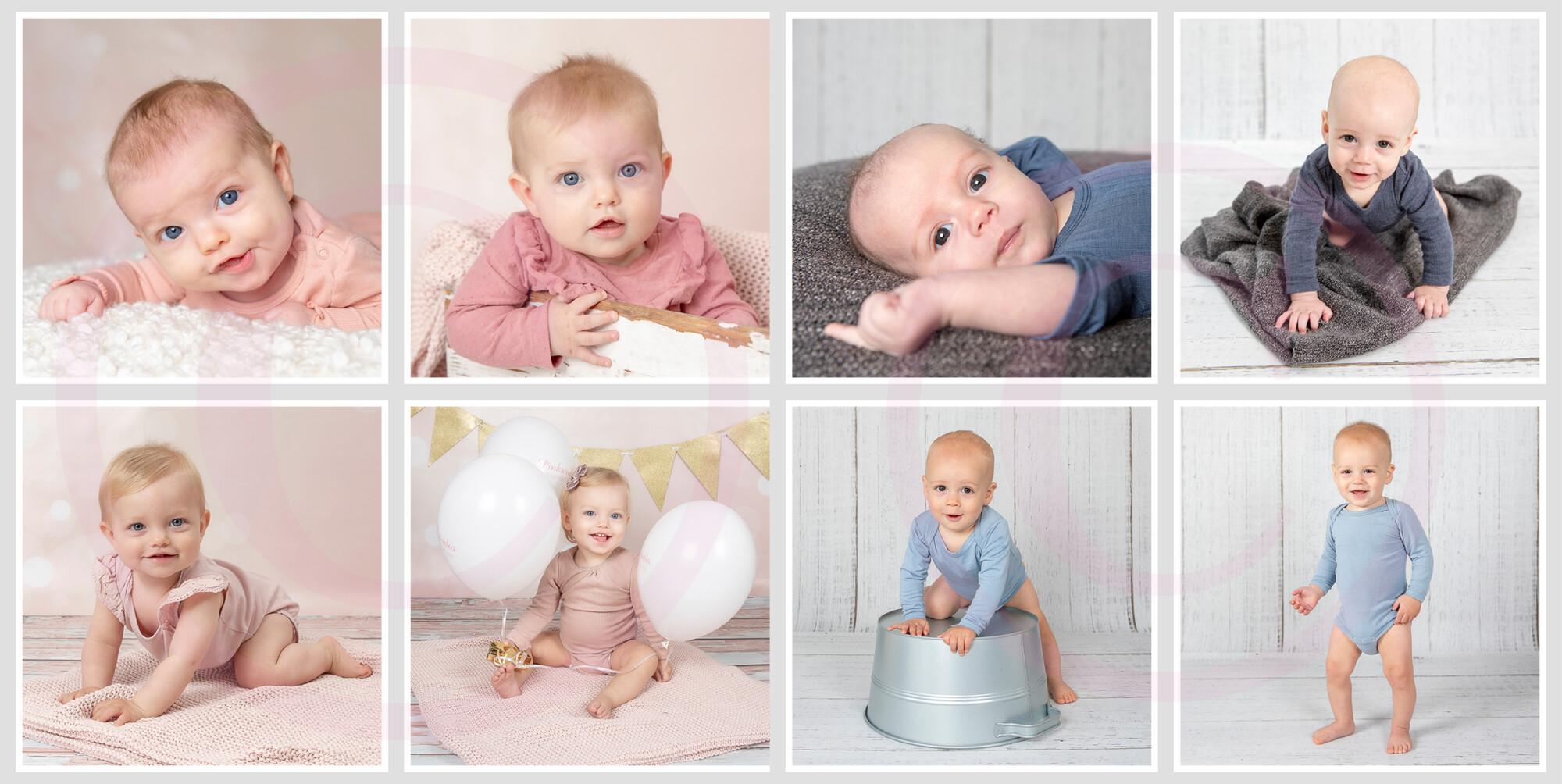 Pinkstudio by Angelina Devine Collage-kvartal Forårstilbud #2: Kvartalspakke + 2 Baby Børn Portræt Tilbud